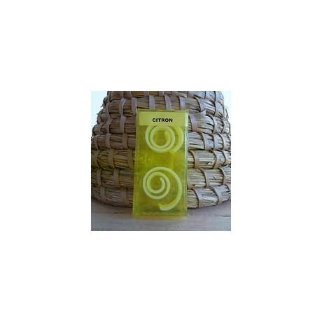 Ručně vyrobené mýdlo se spirálkami - citron