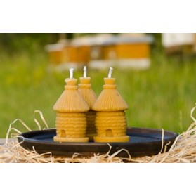 Svíčka ze včelího vosku - úl klát