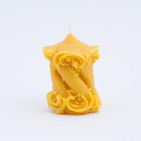 Svíčka ze včelího vosku - široká