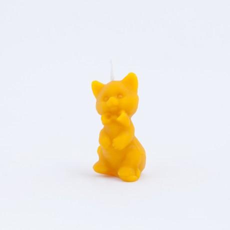 Svíčka ze včelího vosku - kočička