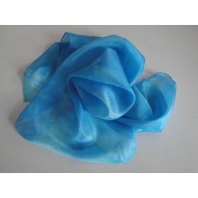 Modro-šedý hedvábný šátek