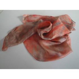 Růžovo-šedý hedvábný šátek