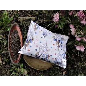 Pohankový polštářek - modré lapače snů