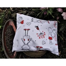 Pohankový polštářek s levandulí - zamilovaní panáčci